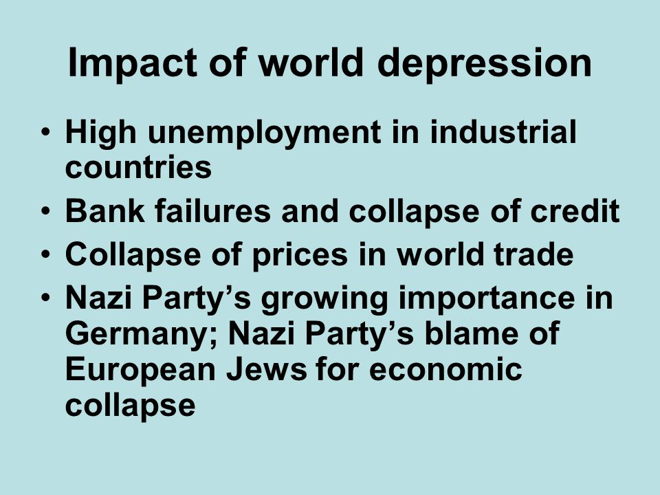 Impact of world depression