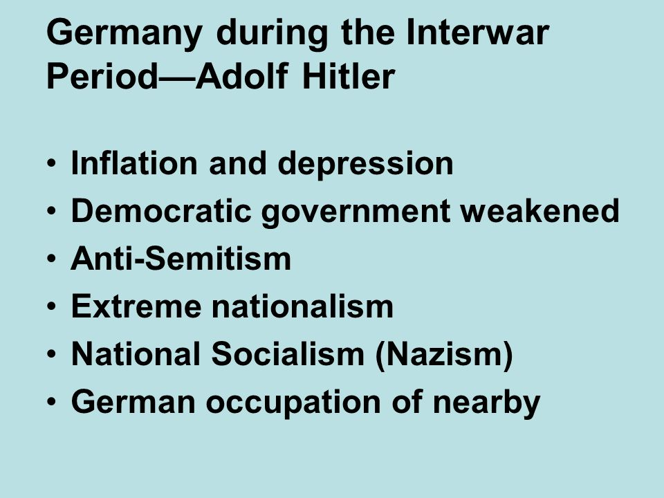 Germany during the Interwar Period—Adolf Hitler
