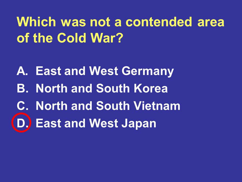 Which was not a contended area of the Cold War
