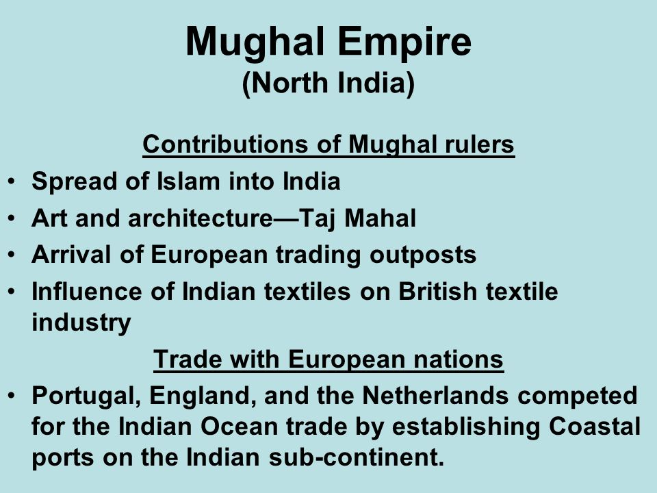 Mughal Empire (North India)