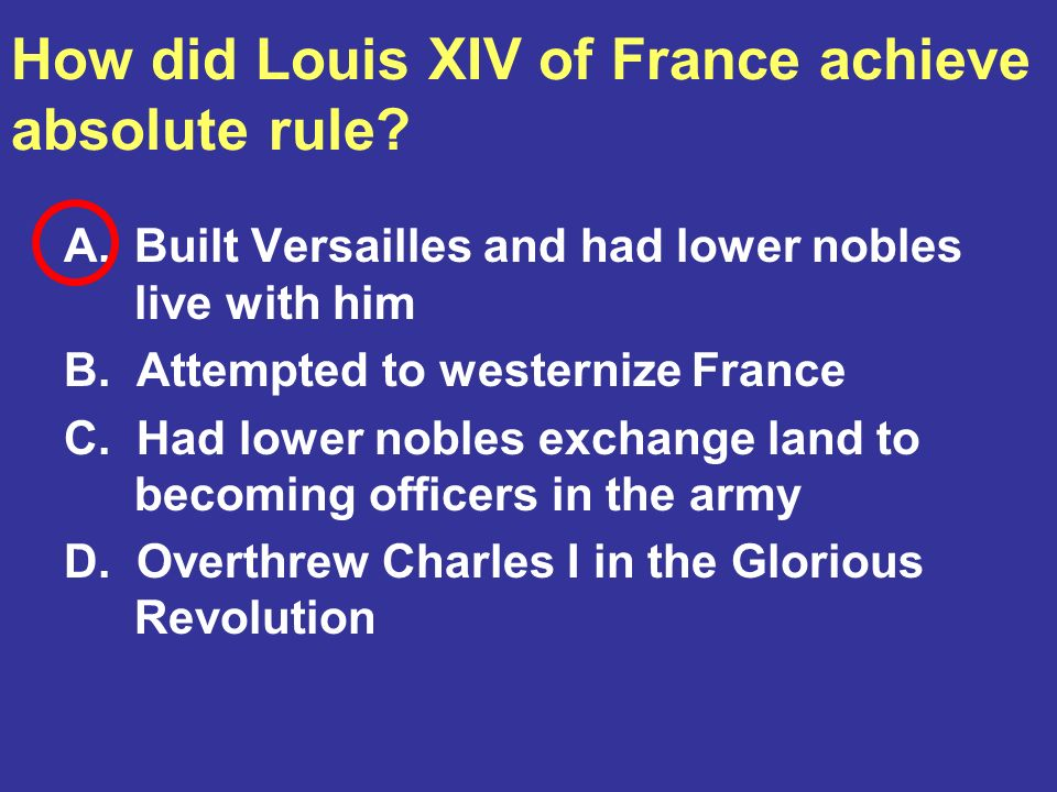 How did Louis XIV of France achieve absolute rule