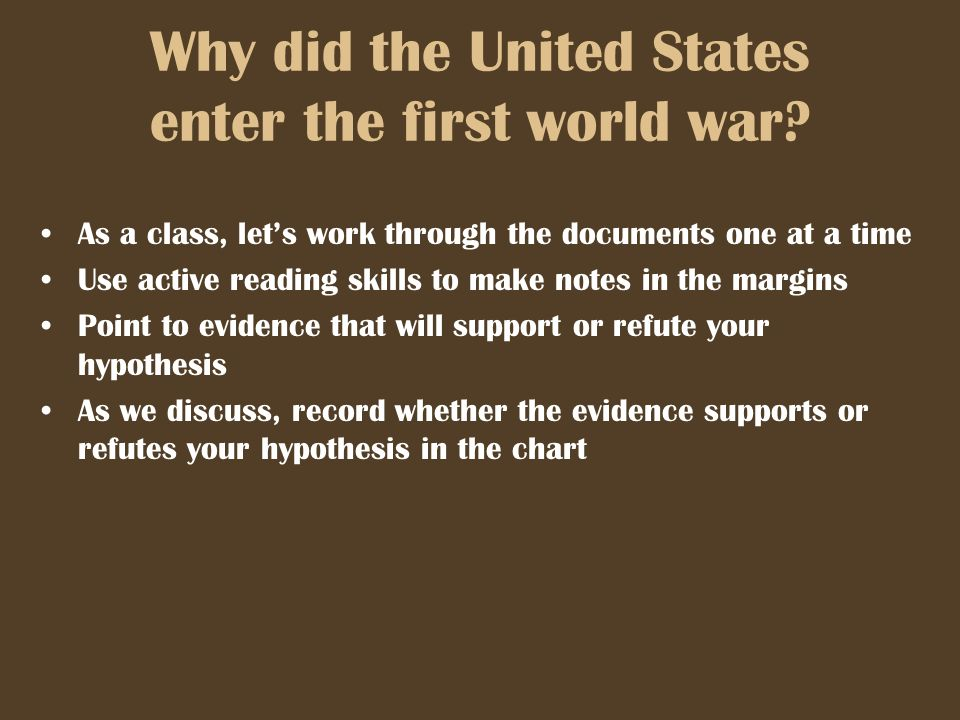 why did the us enter ww1 essays