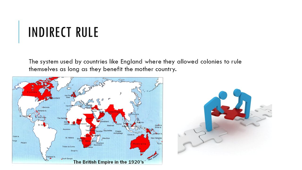 indirect rule Indirect vs direct rule in africa what is indirect rule officials of the dutch east india company allowed local landed aristocrats in the dutch east indies to control local government.