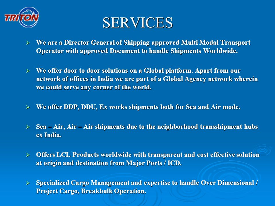 Triton Logistics And Maritime Pvt Ltd Ppt Video Online