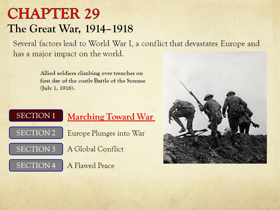 unit 10 the great war chapter 29 the great war ppt video online download. Black Bedroom Furniture Sets. Home Design Ideas