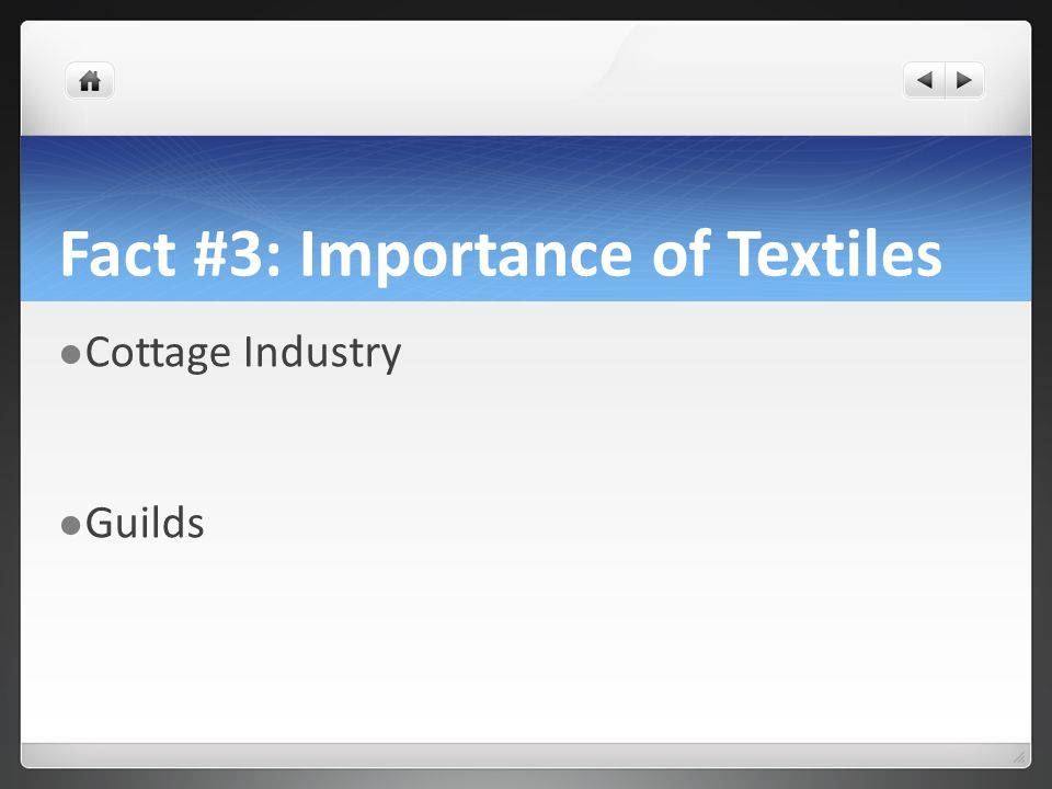 Fact #3: Importance of Textiles