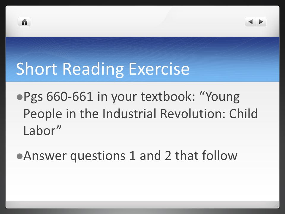 Short Reading Exercise