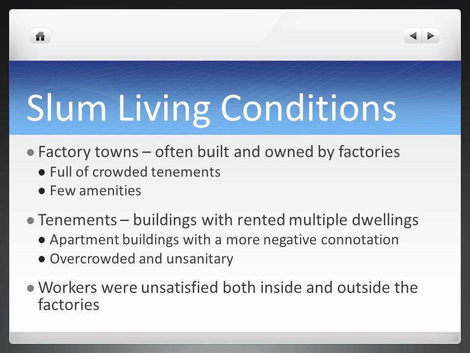 Slum Living Conditions