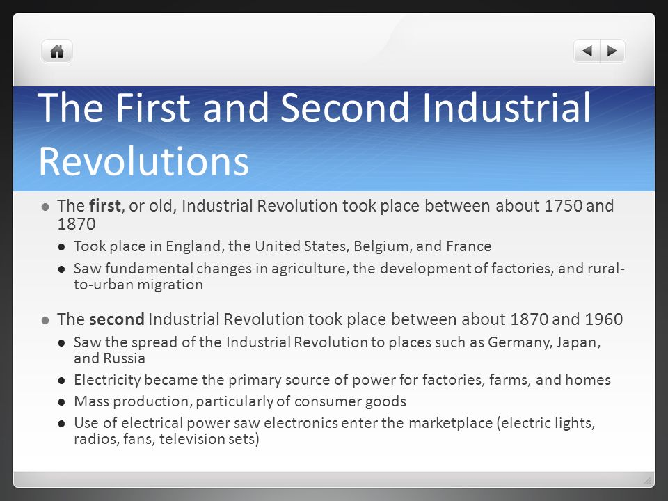 The First and Second Industrial Revolutions