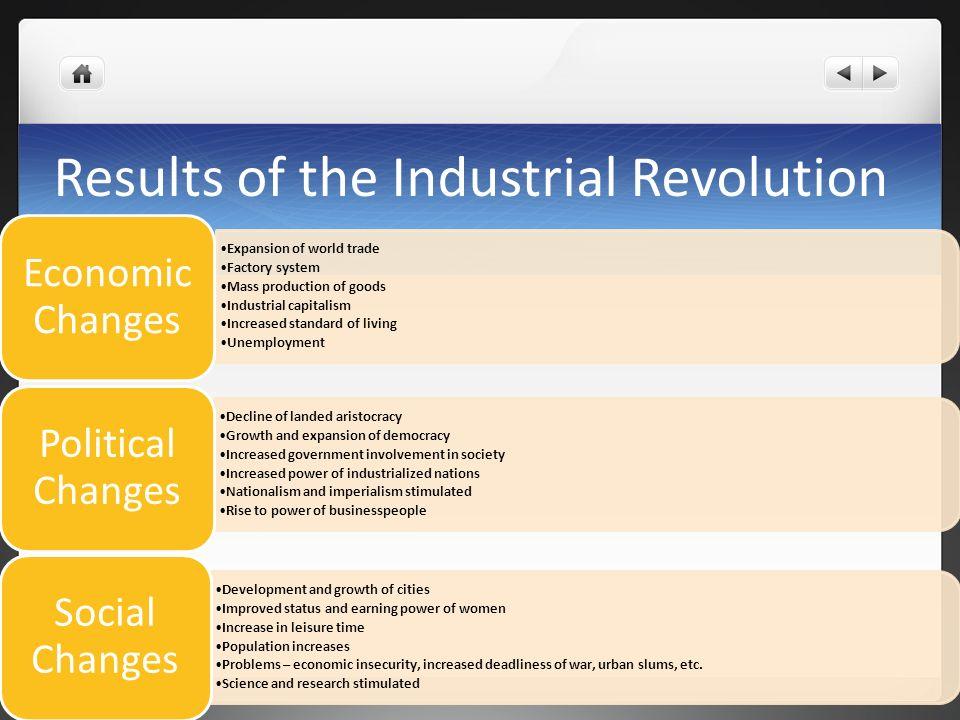 Social Changes during Industrial Revolution