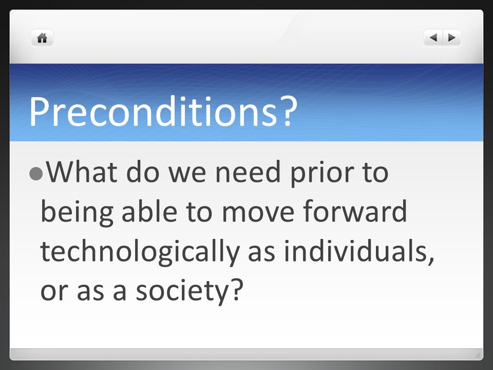 Preconditions.