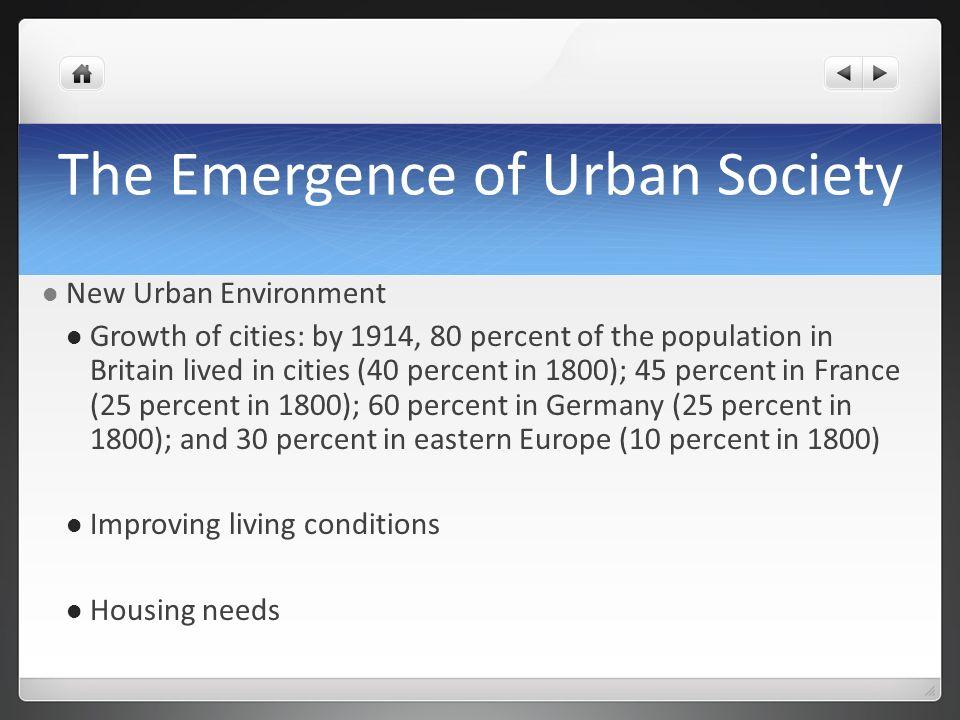 The Emergence of Urban Society