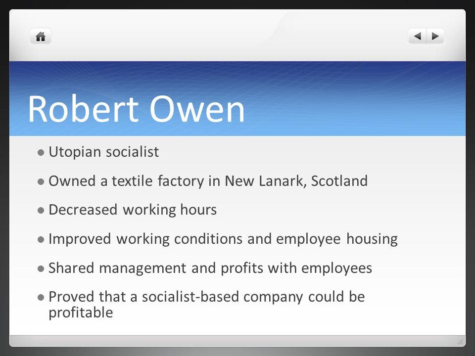 Robert Owen Utopian socialist