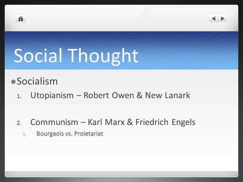 Social Thought Socialism Utopianism – Robert Owen & New Lanark