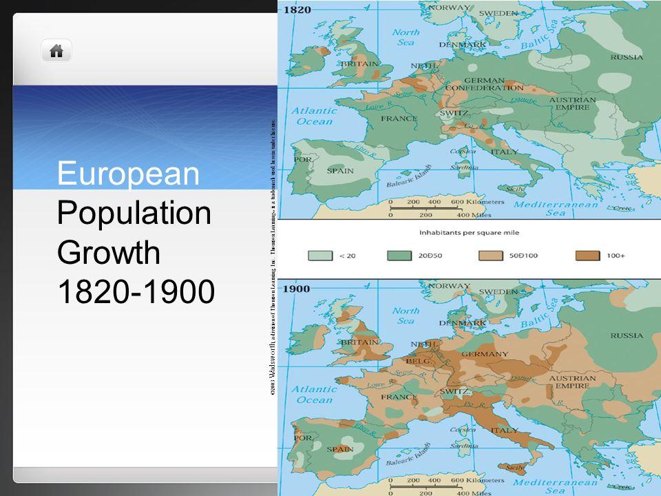 European Population Growth 1820-1900