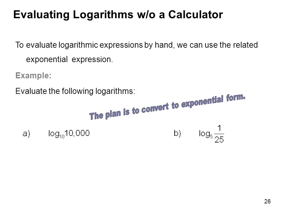 Exponential and Logarithmic Functions - ppt video online download