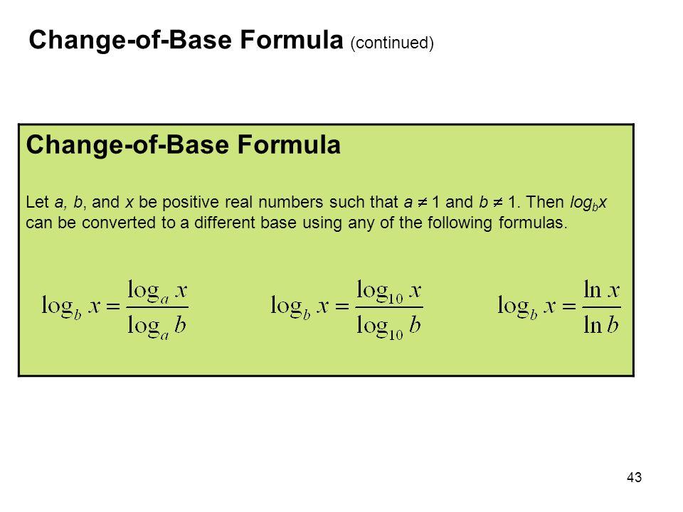 change of base formula