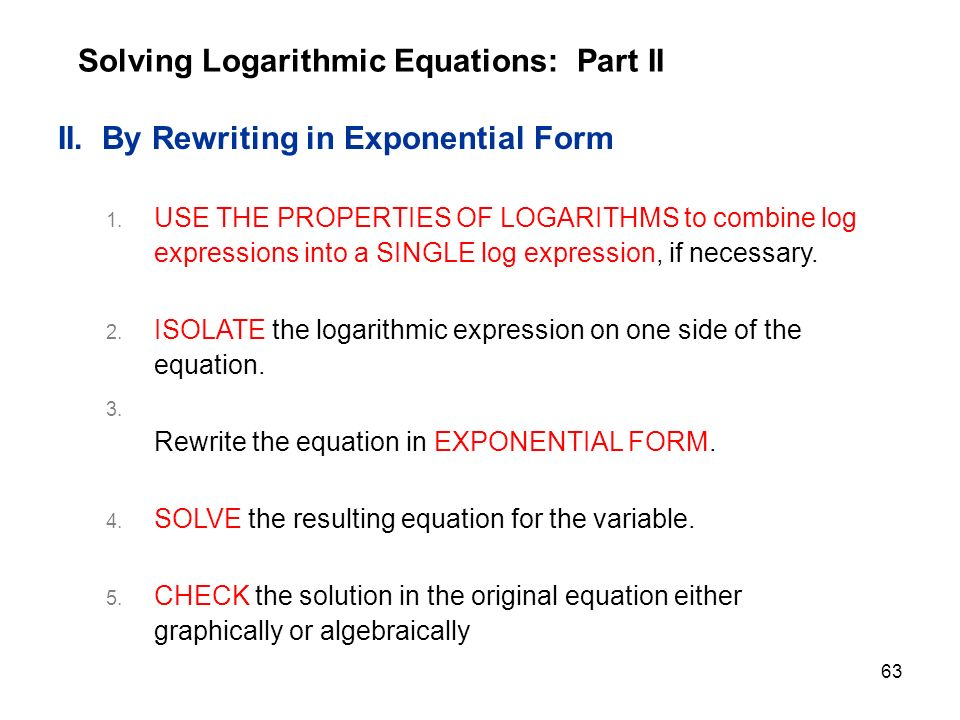 Rewrite Each Equation In Exponential Form - Tessshebaylo