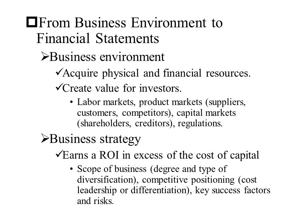 how to create financial statements for an imaginary business