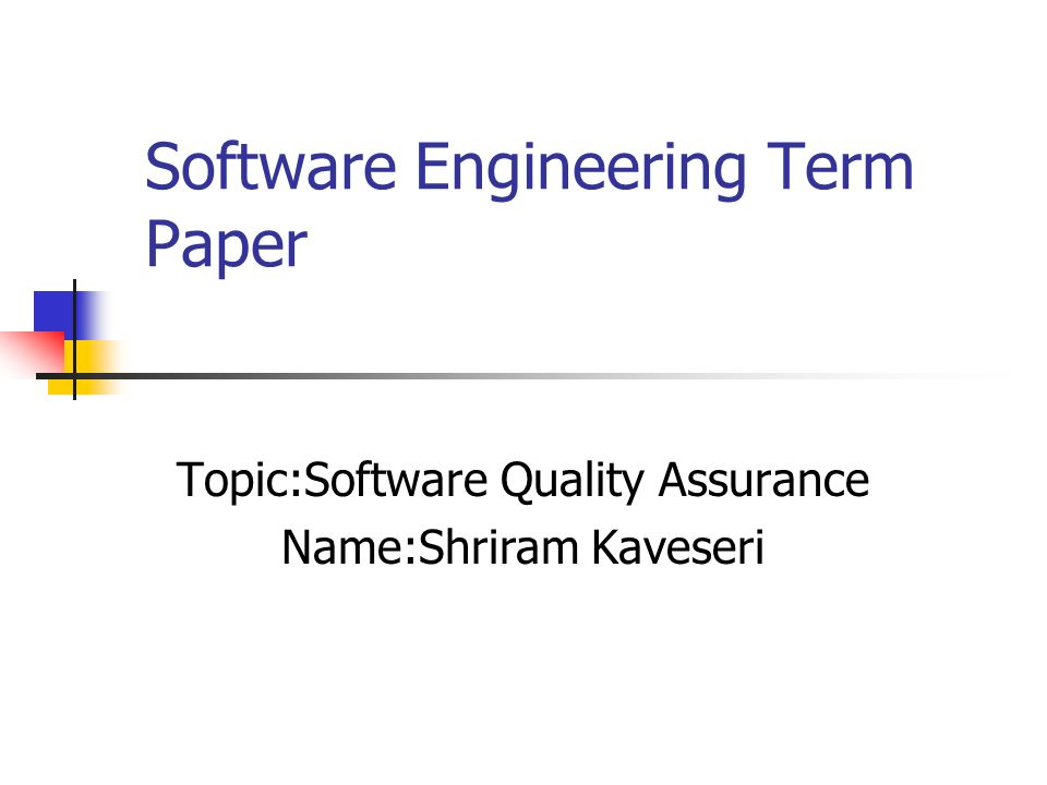 research papers software quality assurance Open source software development (ossd) provides high quality assurance   the quality assurance frameworks and models proposed in some studies, some.