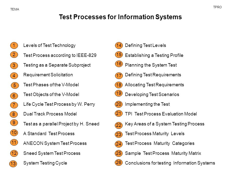 Test Processes For Information Systems