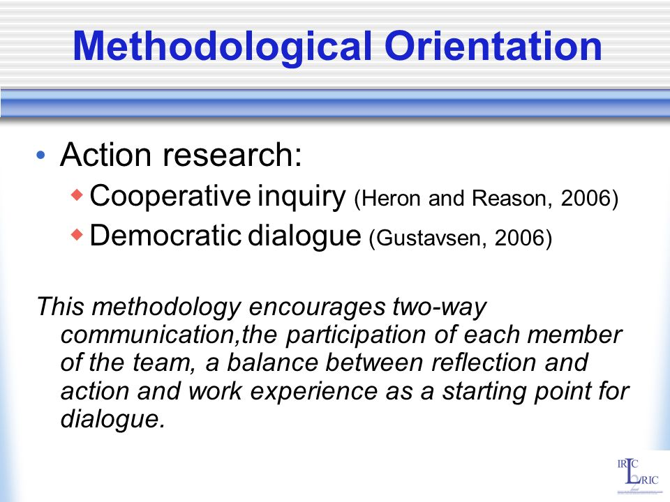 Methodological Orientation