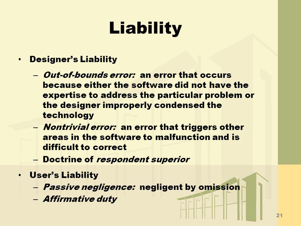 Liability Designer's Liability