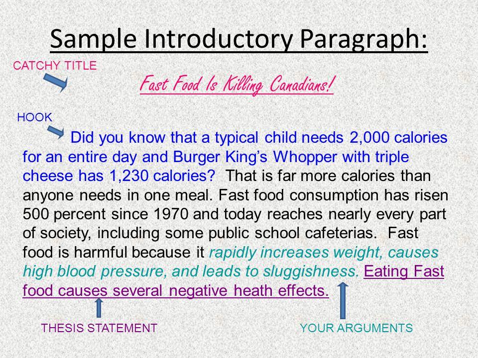 sample introduction paragraph