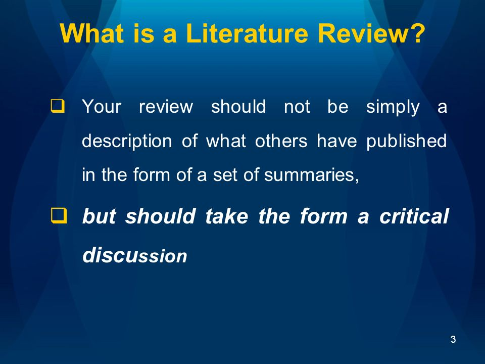 literature review research paper should include There are no widely accepted rules for what is appropriate for background or literature review chapters, or whether your thesis should include either or both.