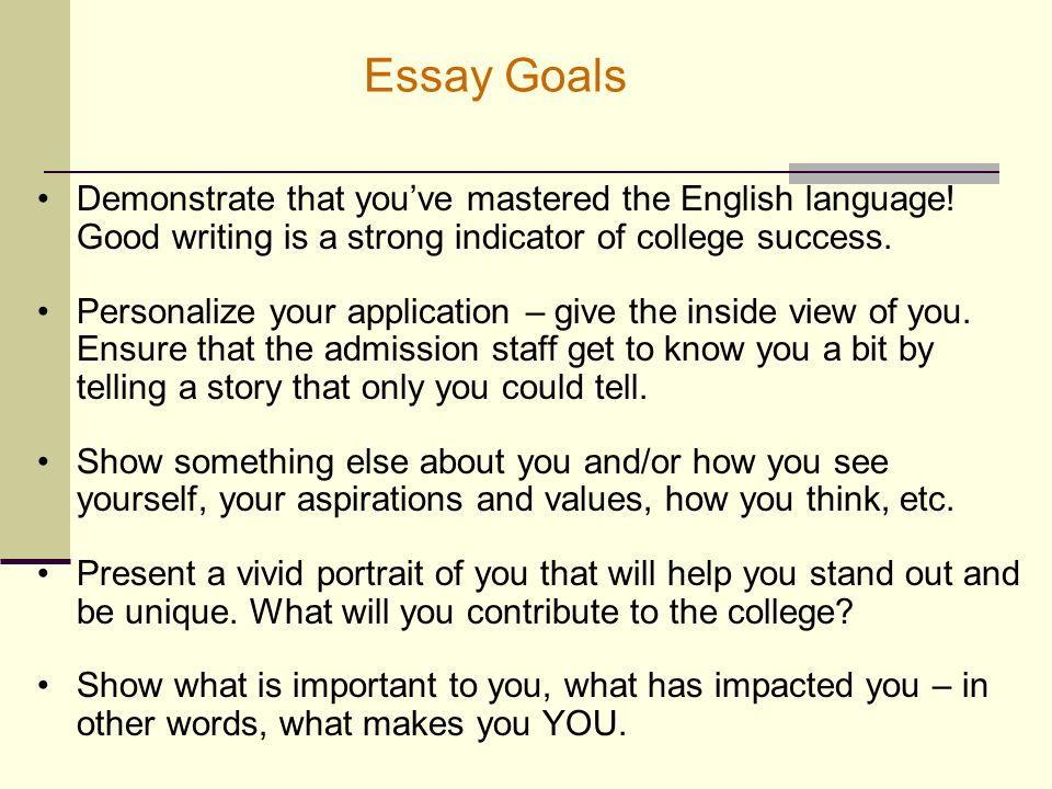 College goals essay