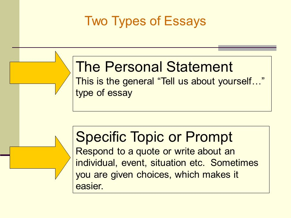 writing effective essays ppt  6 the personal statement two types of essays