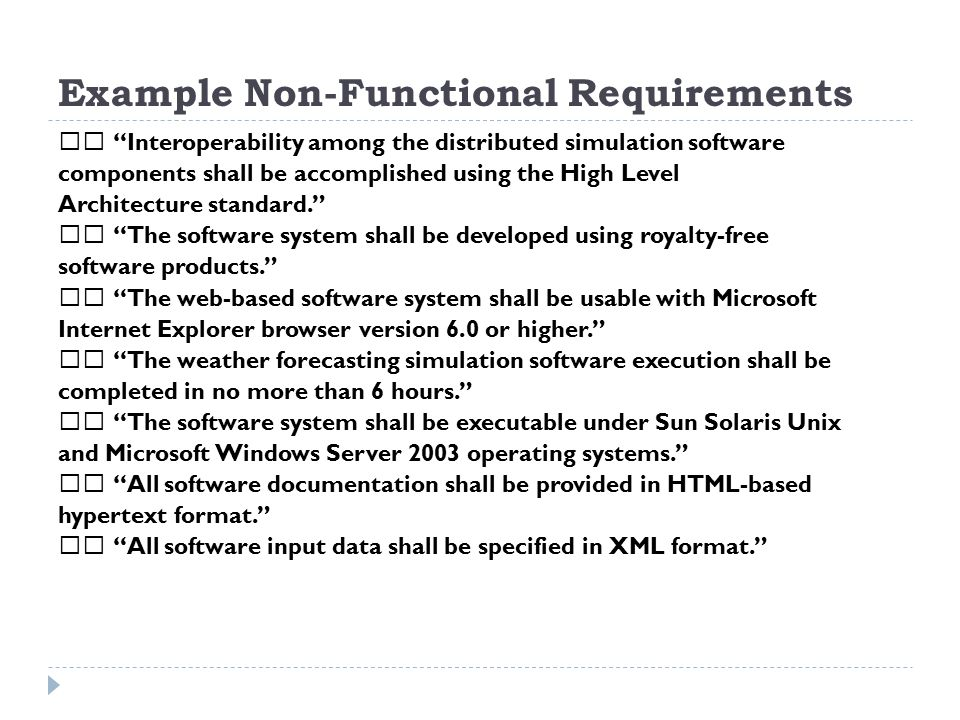 non functional requirements template - requirement engineering adapted from dr osman balci