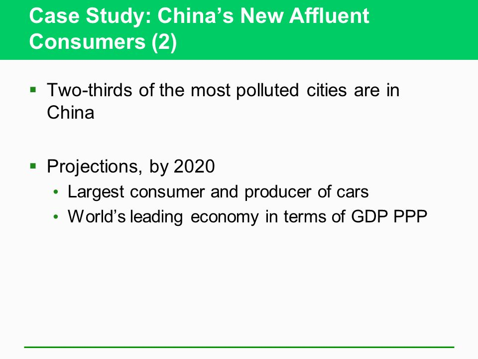 Case Study: China's New Affluent Consumers (2)