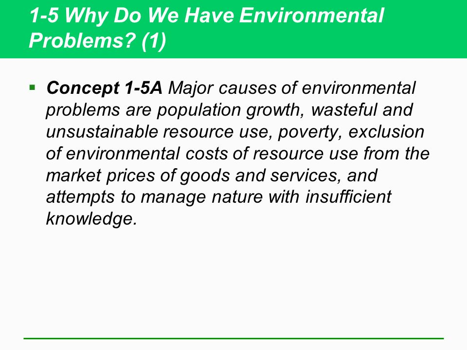 1-5 Why Do We Have Environmental Problems (1)