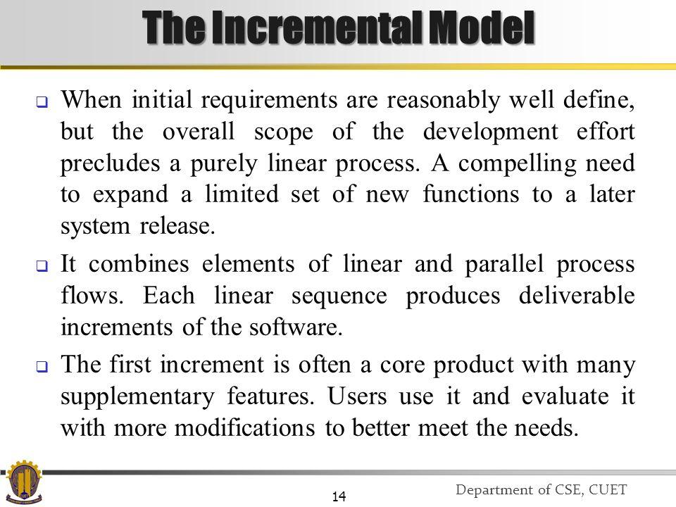 incremental process model in software engineering pdf