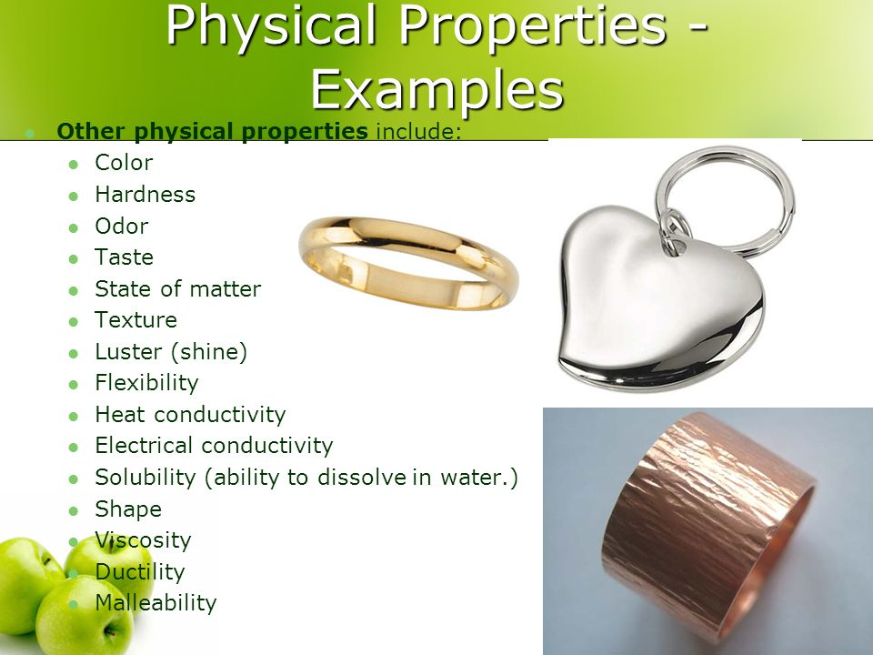 Physical Properties - Examples