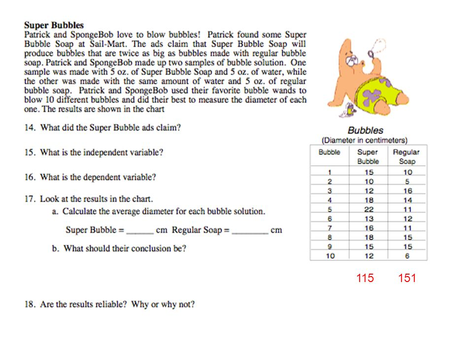 Science 9413 The Scientific Method Controls and Variables – Dancing Raisins Worksheet