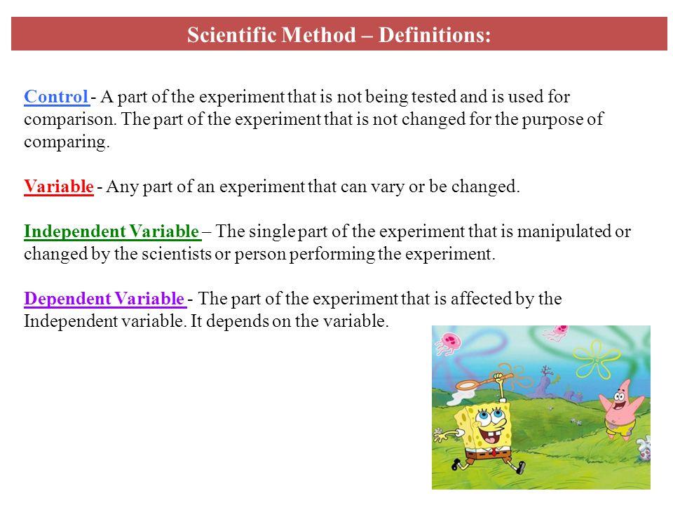 Scientific Method – Definitions:
