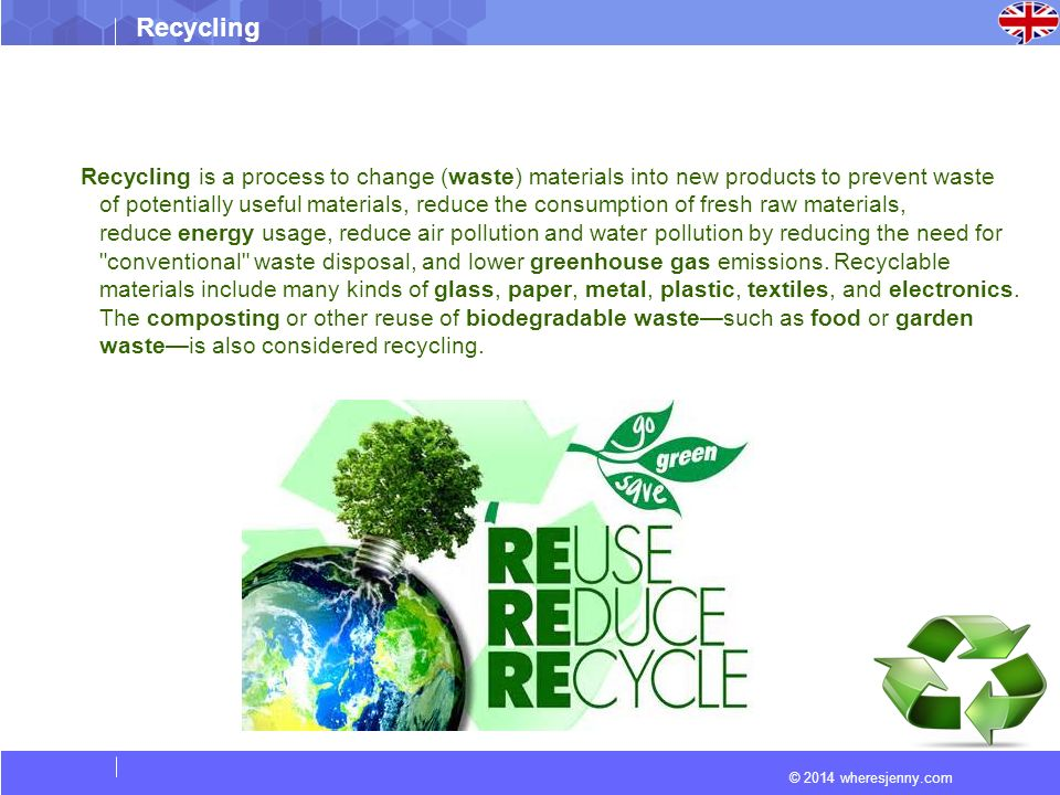 Recycling Ppt Download