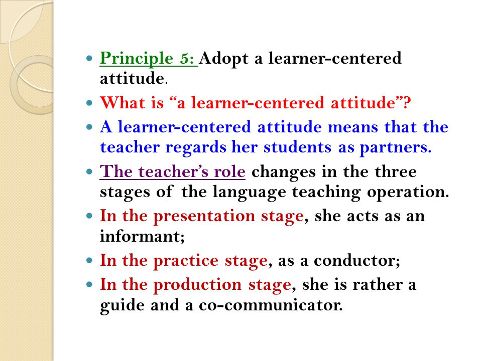 adopting the role of the learner Much has been written about the adult learner with  it has affected the learning and development role  managers need to refrain from adopting a.