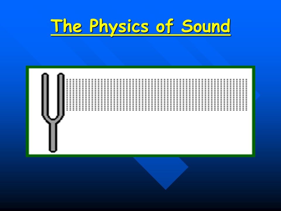 physics of sound Sound waves and music lesson 1 - the nature of a sound wave sound is a mechanical wave sound as a longitudinal wave sound is a pressure wave lesson 2 - sound.