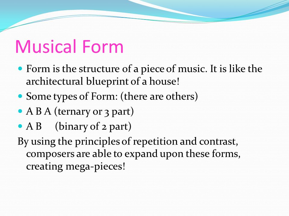 """musical form and structure It recalls the sonata-allegro form that nearly all pre-20th century symphonies used, using repeating musical themes (verses and choruses) and a development section (bridge) to bring the listener back to the familiar theme (or """"hook""""."""