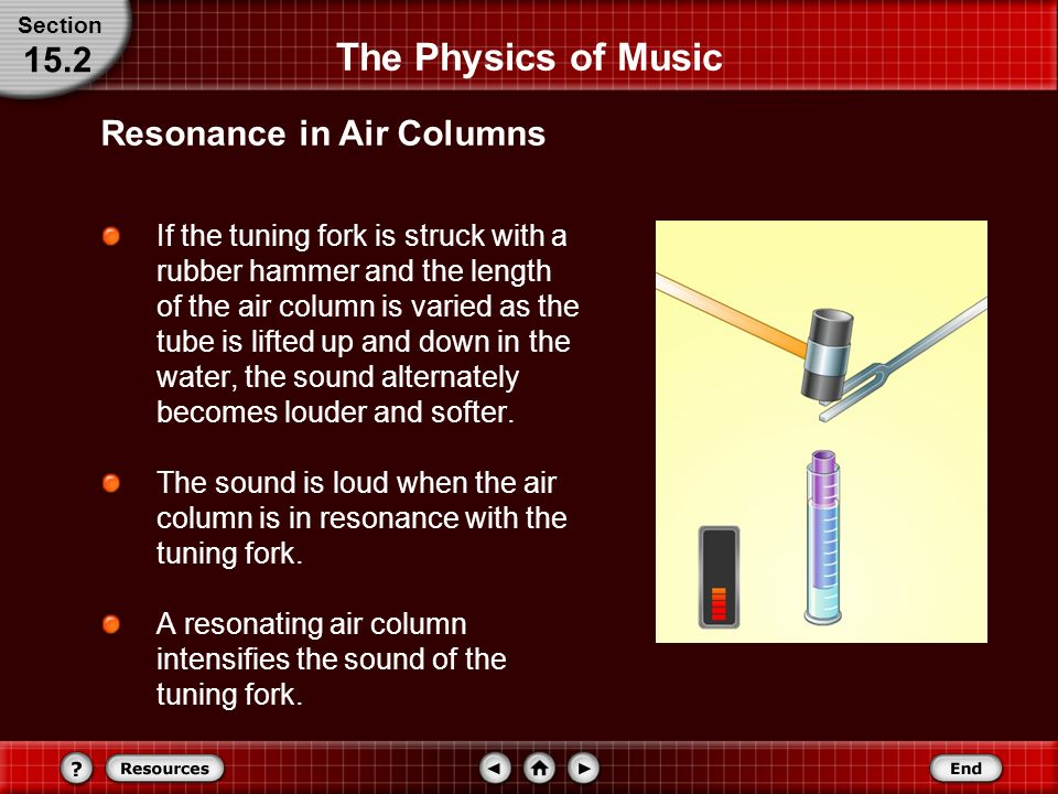 an analysis of resonance and sound physics in music To obtain destructive interference, a fast electronic analysis is performed, and a  second  all sound resonances, such as in musical instruments, are due to   only the resonant frequencies interfere constructively to form standing waves,  while.