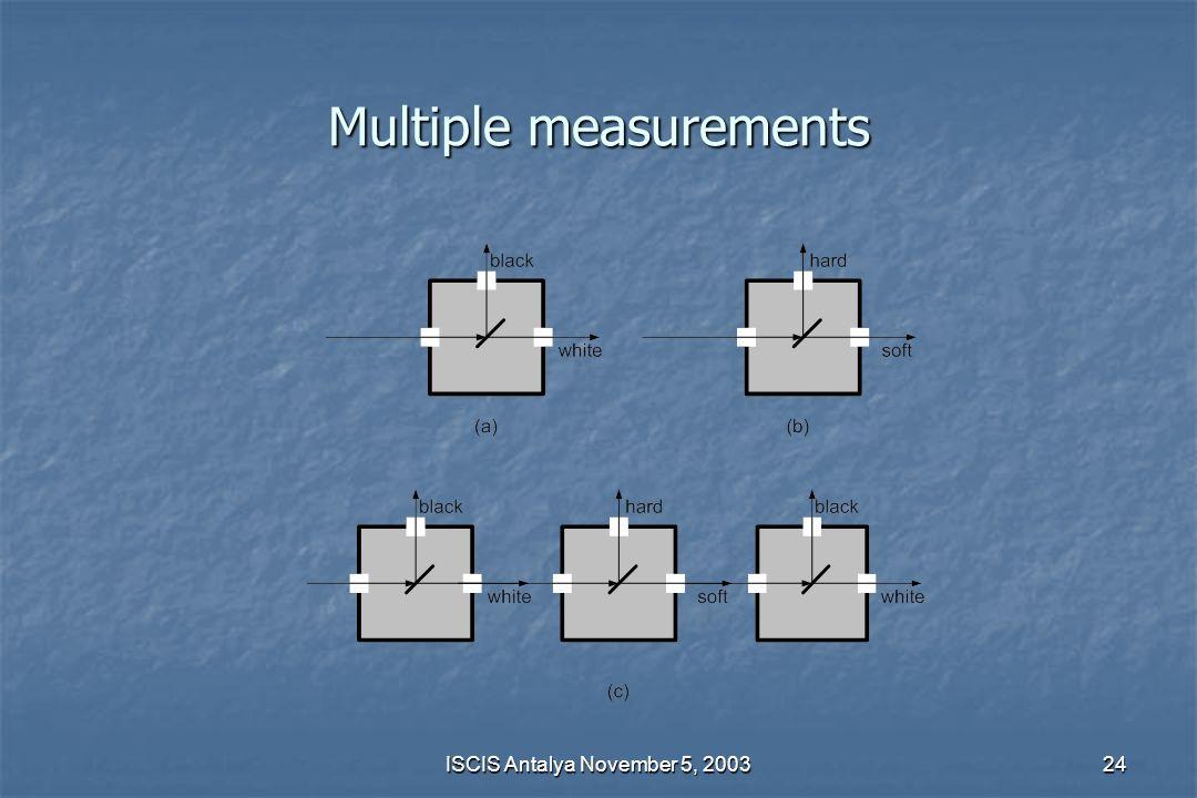 Multiple measurements