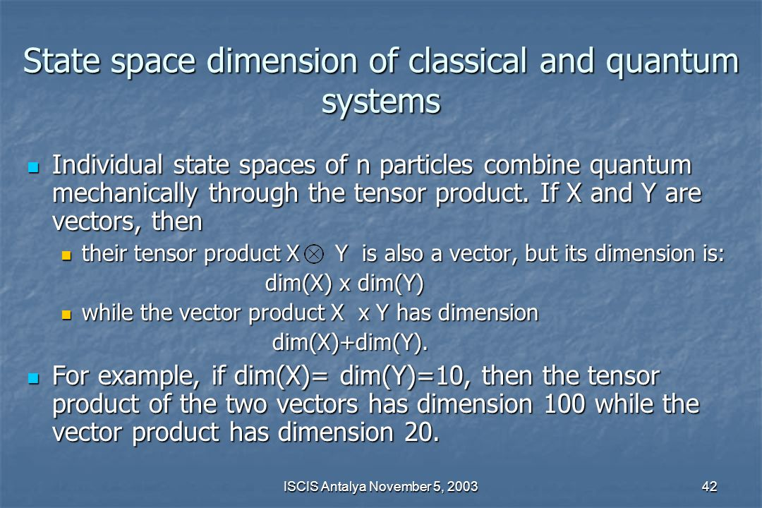 State space dimension of classical and quantum systems