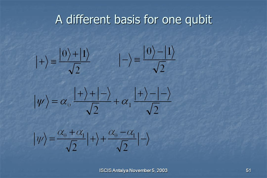 A different basis for one qubit