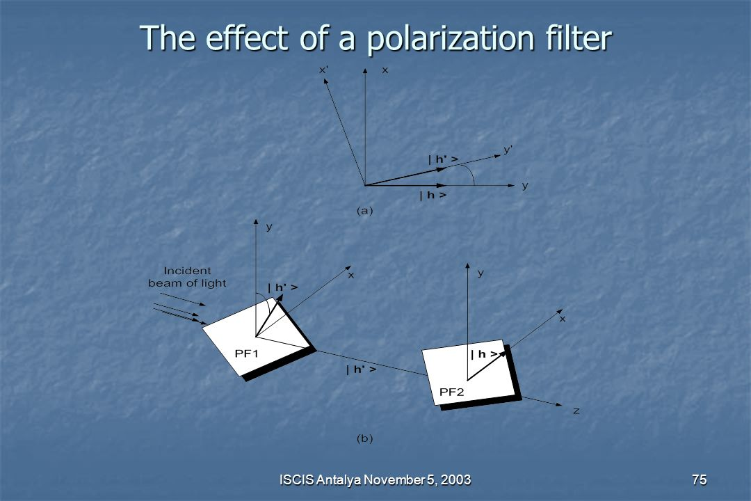 The effect of a polarization filter