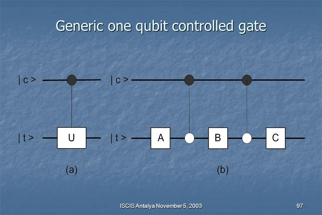 Generic one qubit controlled gate