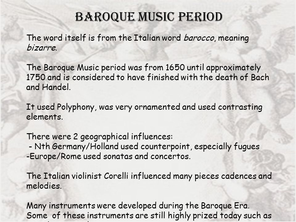 History of music baroque and classical ppt video online for What is the baroque period