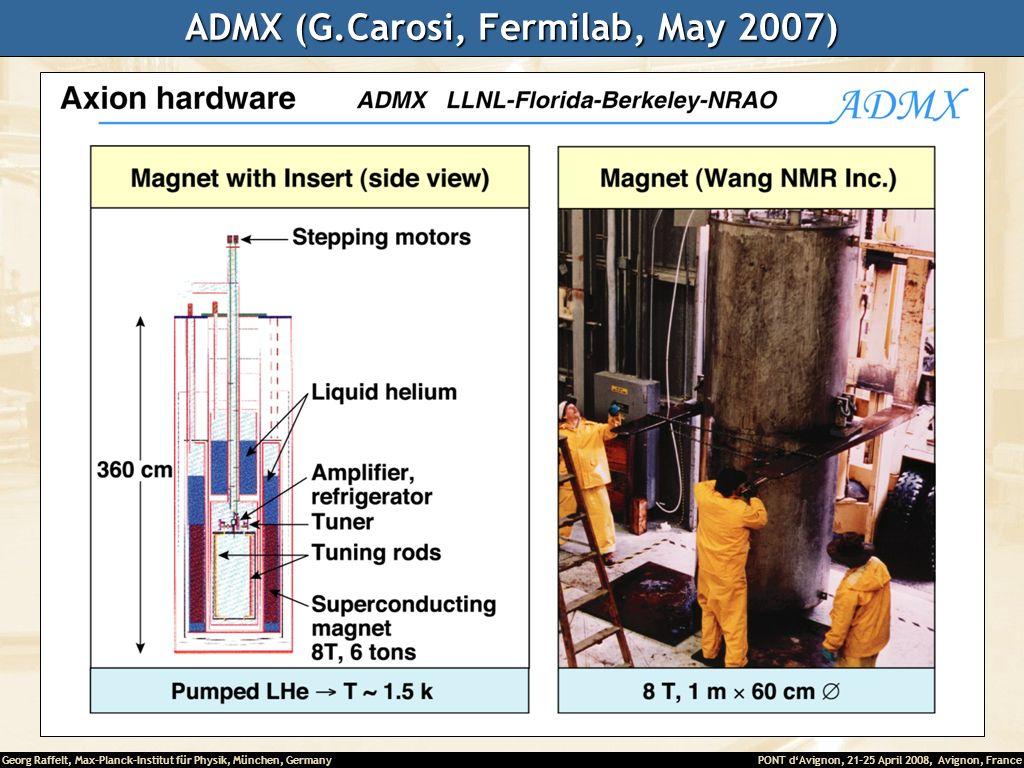 ADMX (G.Carosi, Fermilab, May 2007)